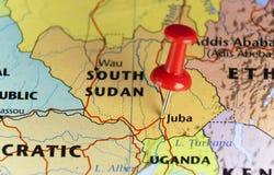 Νέα της Αφρικής χώρα Νότιο Σουδάν διανυσματική απεικόνιση
