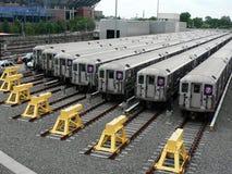 νέα υπόγεια τρένα Υόρκη στοκ εικόνα με δικαίωμα ελεύθερης χρήσης