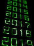 Νέα υπόδειξη ως προς το χρόνο έτους 2018 Στοκ Εικόνες