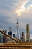 Νέα Υόρκη από τη γέφυρα του Μπρούκλιν Στοκ εικόνα με δικαίωμα ελεύθερης χρήσης