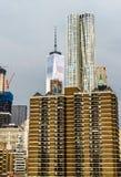 Νέα Υόρκη από τη γέφυρα του Μπρούκλιν στοκ φωτογραφίες με δικαίωμα ελεύθερης χρήσης