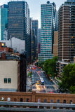 Νέα Υόρκη από τη γέφυρα του Μπρούκλιν στοκ εικόνες