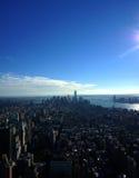 Νέα Υόρκη από τον ουρανό στοκ φωτογραφία με δικαίωμα ελεύθερης χρήσης