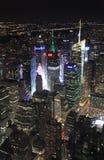 Νέα Υόρκη από το Εmpire State Building τή νύχτα, ΗΠΑ Στοκ φωτογραφίες με δικαίωμα ελεύθερης χρήσης