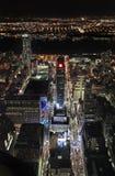 Νέα Υόρκη από το Εmpire State Building τή νύχτα, ΗΠΑ Στοκ φωτογραφία με δικαίωμα ελεύθερης χρήσης