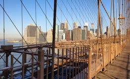Νέα Υόρκη, γέφυρα του Μπρούκλιν, ενωμένο Statef της Αμερικής στοκ εικόνες