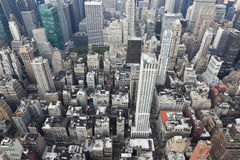 Νέα Υόρκη: εναέρια όψη του Μανχάτταν στοκ εικόνα με δικαίωμα ελεύθερης χρήσης