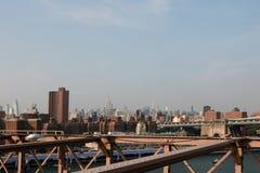 Νέα Υόρκη, ΗΠΑ - 2 Σεπτεμβρίου 2018: άποψη από τη γέφυρα του Μπρούκλιν στο Μανχάτταν στοκ εικόνα