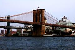 Νέα Υόρκη, ΗΠΑ - 2 Σεπτεμβρίου 2018: Γέφυρα του Μπρούκλιν στην πόλη της Νέας Υόρκης - εναέρια άποψη στοκ φωτογραφίες