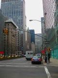 Νέα Υόρκη, ΗΠΑ - 13 Φεβρουαρίου 2013: Άποψη του Μανχάταν πόλεων με τους ουρανοξύστες Στοκ Φωτογραφίες