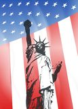 Νέα Υόρκη και αμερικανικό σύμβολο Στοκ εικόνες με δικαίωμα ελεύθερης χρήσης