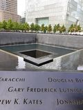 Νέα Υόρκη, Νέα Υόρκη, 2017: Μνημείο στο σημείο μηδέν Ν World Trade Center Στοκ εικόνα με δικαίωμα ελεύθερης χρήσης