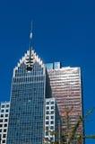 Νέα Υόρκη: ορίζοντας, ουρανοξύστες και μπλε ουρανός στις 17 Σεπτεμβρίου 2014 Στοκ Εικόνες