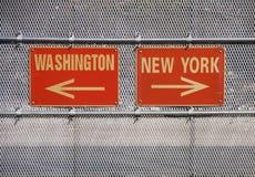 Νέα Υόρκη Ουάσιγκτον Στοκ φωτογραφία με δικαίωμα ελεύθερης χρήσης