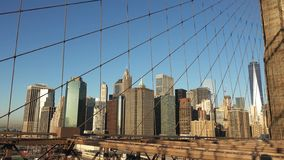 Νέα Υόρκη, πυράκτωση ξημερωμάτων στη γέφυρα του Μπρούκλιν 2019 στοκ φωτογραφίες με δικαίωμα ελεύθερης χρήσης