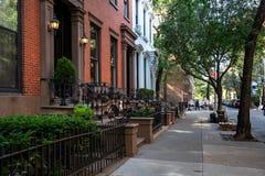 Νέα Υόρκη, πόλη/ΗΠΑ - 10 Ιουλίου 2018: Παλαιά κτήρια του Μπρούκλιν Χ Στοκ Εικόνα