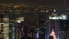 Νέα Υόρκη τη νύχτα Στοκ Φωτογραφία