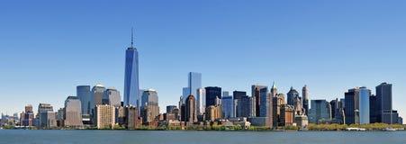 Νέα Υόρκη, το καλύτερο ευρύ πανόραμα διαθέσιμο με τον ποταμό του Hudson στοκ εικόνες