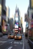 Νέα Υόρκη χρονικών η τετραγωνική κίτρινη ταξί Στοκ Φωτογραφία