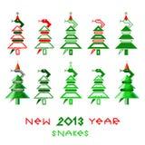 Νέα φίδια έτους Στοκ Εικόνες