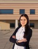 Νέα φιλόδοξη επιχειρησιακή γυναίκα Στοκ φωτογραφία με δικαίωμα ελεύθερης χρήσης
