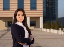 Νέα φιλόδοξη επιχειρησιακή γυναίκα Στοκ φωτογραφίες με δικαίωμα ελεύθερης χρήσης