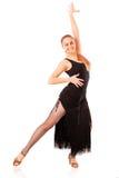 Νέα χορεύοντας γυναίκα στοκ εικόνα με δικαίωμα ελεύθερης χρήσης