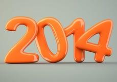 2014 νέα ψηφία έτους διανυσματική απεικόνιση