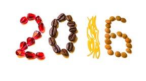 Νέα ψηφία τροφίμων έτους Στοκ Φωτογραφίες