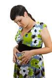 Νέα όμορφη έγκυος γυναίκα Στοκ Φωτογραφία