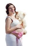 Νέα όμορφη έγκυος γυναίκα Στοκ Φωτογραφίες