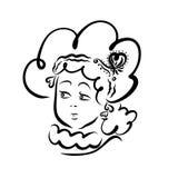 Νέα όμορφη γυναίκα με ένα θαυμάσιο hairdo για έναν εορτασμό ο διανυσματική απεικόνιση