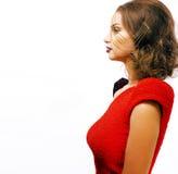 Νέα όμορφη γυναίκα με το ύφος μόδας makeup, αλυσίδα όπως gussar Στοκ εικόνα με δικαίωμα ελεύθερης χρήσης