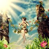 Νέα όμορφη γυναίκα νεράιδων Στοκ Εικόνες