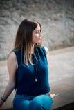 Νέα όμορφη γυναίκα hipster Στοκ Εικόνες