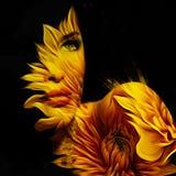 Νέα όμορφη διπλή έκθεση πορτρέτου φαντασίας γυναικών Στοκ εικόνες με δικαίωμα ελεύθερης χρήσης