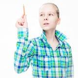 Νέα όμορφη εκπαίδευση κοριτσιών Στοκ εικόνα με δικαίωμα ελεύθερης χρήσης