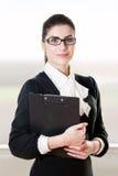 Νέα όμορφη επιχειρηματίας πορτρέτου Στοκ Εικόνες