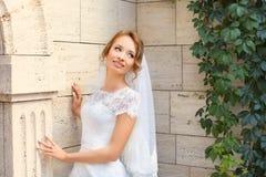 Νέα όμορφη νύφη στη ημέρα γάμου της Στοκ εικόνα με δικαίωμα ελεύθερης χρήσης