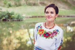 Νέα όμορφη ουκρανική γυναίκα Στοκ φωτογραφία με δικαίωμα ελεύθερης χρήσης