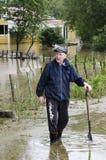 νέα ύδατα Ζηλανδία πλημμυρών κάλυψης Στοκ Φωτογραφίες