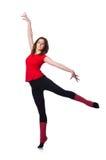 Νέα gymnast άσκηση Στοκ Εικόνες