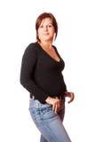 Νέα redhead γυναίκα Στοκ φωτογραφία με δικαίωμα ελεύθερης χρήσης