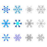 νέα snowflakes Στοκ φωτογραφίες με δικαίωμα ελεύθερης χρήσης
