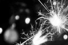 Νέα sparklers έτους ` s Στοκ φωτογραφία με δικαίωμα ελεύθερης χρήσης