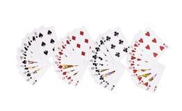 Νέες ανοιγμένες κάρτες παιχνιδιού Στοκ εικόνες με δικαίωμα ελεύθερης χρήσης