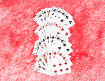 Νέες ανοιγμένες κάρτες παιχνιδιού Στοκ Φωτογραφίες