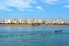 Νέες αποκλειστικές πολυκατοικίες στη μαρίνα Bouregreg στη Rabat Στοκ εικόνες με δικαίωμα ελεύθερης χρήσης