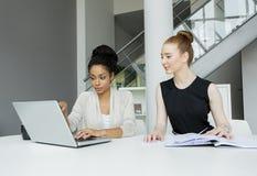 Νέες γυναίκες στο γραφείο Στοκ Φωτογραφία