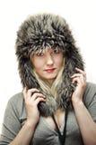 Νέες γυναίκες στο καπέλο γουνών στοκ εικόνες